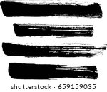 set of grunge lines. isolated... | Shutterstock .eps vector #659159035