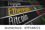Stock photo ethereum crypto currency market as concept financial markets and virtual currency values d 659168221