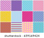 set patterns texture repeating... | Shutterstock .eps vector #659169424