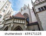 maisel synagogue in prague ... | Shutterstock . vector #659171125
