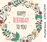 happy birthday and invitation... | Shutterstock .eps vector #659172559