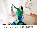 tourism  people and luggage... | Shutterstock . vector #659174191