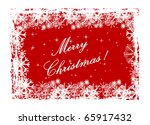 illustration of a red christmas ... | Shutterstock . vector #65917432