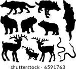 forest animals vector   Shutterstock .eps vector #6591763