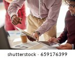 business  technology and people ... | Shutterstock . vector #659176399