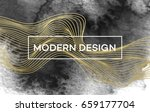 abstract background with golden ... | Shutterstock .eps vector #659177704