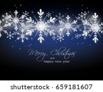 blue christmas background with... | Shutterstock . vector #659181607