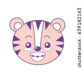 cute wild animal face with... | Shutterstock .eps vector #659182165