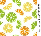 seamless pattern in citrus... | Shutterstock .eps vector #659192779