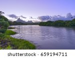 mauritius island sunset ... | Shutterstock . vector #659194711