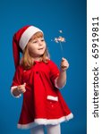 cute little miss santa playing... | Shutterstock . vector #65919811