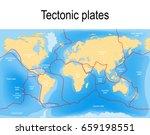 plate tectonics map. major an...   Shutterstock .eps vector #659198551