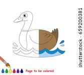 beautiful wild duck  the... | Shutterstock .eps vector #659200381