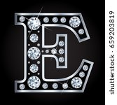 e vector letter made with... | Shutterstock .eps vector #659203819