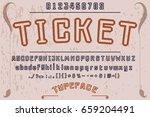 font.handcrafted vector... | Shutterstock .eps vector #659204491