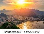 corcovado and botafogo in rio... | Shutterstock . vector #659206549