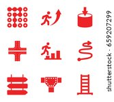 way icons set. set of 9 way... | Shutterstock .eps vector #659207299