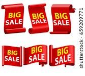 big sale banne ribbon vector... | Shutterstock .eps vector #659209771