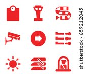 control icons set. set of 9... | Shutterstock .eps vector #659212045