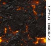 Seamless Magma Or Lava Texture...