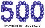 Arabic Numeral 500  Five...