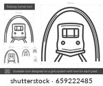 railway tunnel vector line icon ... | Shutterstock .eps vector #659222485