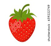 strawberry sweet fruit flat... | Shutterstock .eps vector #659222749