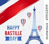 happy bastille day  14 july.... | Shutterstock .eps vector #659223559