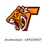 modern tiger t letter alphabet... | Shutterstock .eps vector #659224057