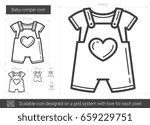baby romper vector line icon... | Shutterstock .eps vector #659229751