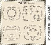 frame  ornament  decorative... | Shutterstock .eps vector #659235364
