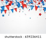 usa background with colorful... | Shutterstock .eps vector #659236411