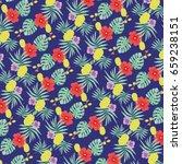 tropical print | Shutterstock .eps vector #659238151