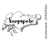 hand drawn of  singapore map ... | Shutterstock .eps vector #659239261
