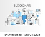 blockchain vector background... | Shutterstock .eps vector #659241235