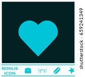 heart icon flat. blue pictogram ... | Shutterstock .eps vector #659241349