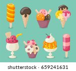 collection of 8 tasty ice... | Shutterstock .eps vector #659241631