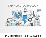 financial technology   fin tech ... | Shutterstock .eps vector #659241655