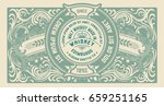 old  label design for whiskey... | Shutterstock .eps vector #659251165