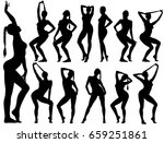 silhouettes of slim sexy woman... | Shutterstock .eps vector #659251861