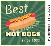 vector poster for hot dogs... | Shutterstock .eps vector #659266081
