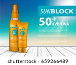 3d sunscreen protection sun... | Shutterstock .eps vector #659266489