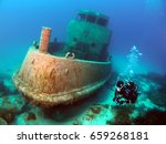 diving the new location of the... | Shutterstock . vector #659268181