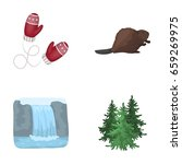 canadian fir  beaver and other... | Shutterstock .eps vector #659269975