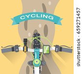vector flat poster of cycling... | Shutterstock .eps vector #659271457
