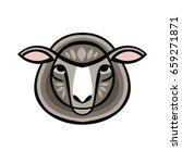vector illustrated portrait of...   Shutterstock .eps vector #659271871