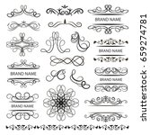 set of vector graphic elements... | Shutterstock .eps vector #659274781