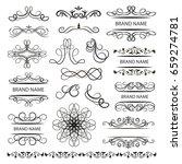 set of vector graphic elements... | Shutterstock .eps vector #659274781