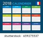 calendar 2018   french version  ...   Shutterstock .eps vector #659275537