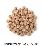 top view of extruded wheat bran ... | Shutterstock . vector #659277001